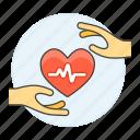 3, ecg, ekg, electrocardiogram, hand, health, healthcare, heart, pulse, signal icon