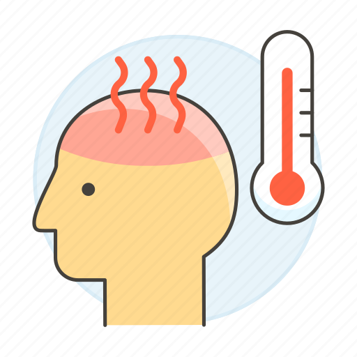 1, condition, fever, health, high, medical, specialties, temperature, thermometer icon