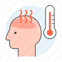 condition, fever, health, high, medical, specialties, temperature, thermometer icon