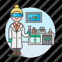 1, female, glassware, health, lab, laboratorist, laboratory, scientist, test, tube icon