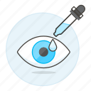 care, dropper, eye, health, medication, ocular, ophthalmology, treatment icon