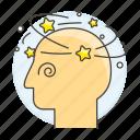 dizziness, dizzy, eyes, specialties, nausea, headache, condition, health, sickness, medical icon