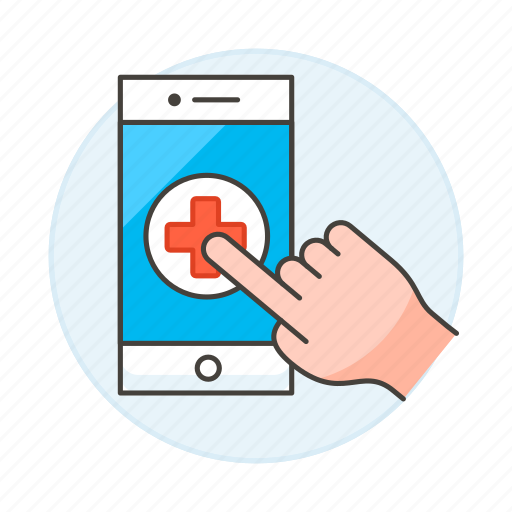 3, app, appointment, clinic, hand, health, hospital, medical, online, platform, software icon