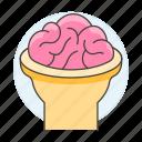 cerebrum, cortex, system, cerebral, head, nervous, open, brain, health, back, human icon