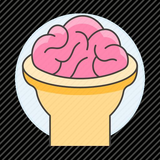 2, back, brain, cerebral, cerebrum, cortex, head, health, human, nervous, open, system icon