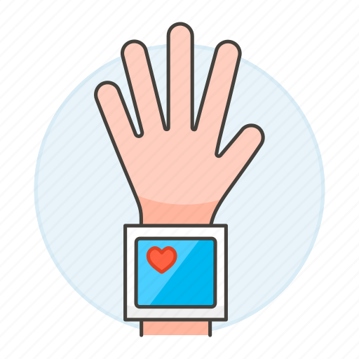 1, blood, examination, health, heart, monitor, monitoring, pressure, rate, tester, wrist icon