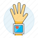 pressure, heart, wrist, rate, tester, blood, health, examination, monitoring, monitor icon