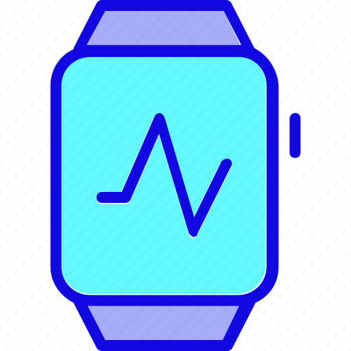 gage, health, heart, medical, rate, smart watch, watch icon