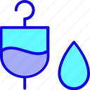 drug, fluid, health, healthcare, infusion, intravenaous, symbols icon