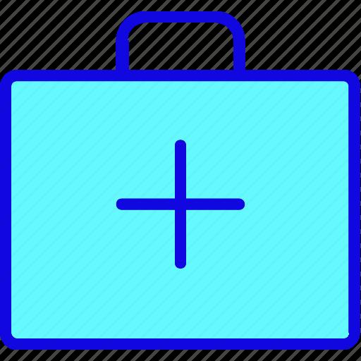 bag, briefcase, drug, kit, luggage, portfolio, suitcase icon