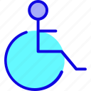 disability, disable, disabled, health, medical, patient, wheelchair icon