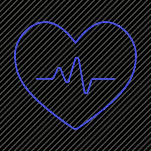 ecg, ekg, electrocardiogram, health, healthcare, heart, pulse, signal icon