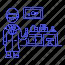 1, glassware, health, lab, laboratorist, laboratory, male, scientist, test, tube icon