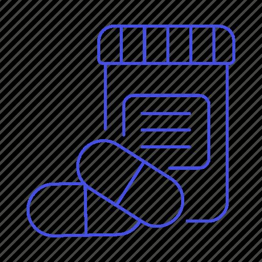 2, bottle, capsule, drug, health, medicine, pharmacology, pill, tablet icon