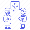 1, doctor, fee, health, medical, patient, personnel, service, surgeon icon