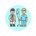 care, doctor, health, help, hospital, medical, patient, treat icon