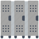 changing rooms, fitness, gym, health, lockers, storage icon