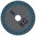 bar bell, fitness, gym, health, kilograms, lift, weight icon
