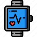 bpm, fitness, health, monitor, pulse, tech, watch icon