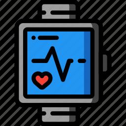 bpm, fitness, health, monitor, pulse, tech, watch icon