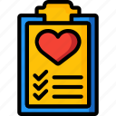 clipboard, fitness, health, healthlist, schedule icon