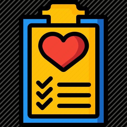 clipboard, fitness, health, healthlist, schedule icon