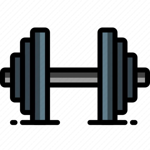dumbell, equipment, fitness, gym, health icon