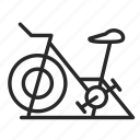 air bike, diet, exercise bike, fitness clubs, health, sports, trainer icon