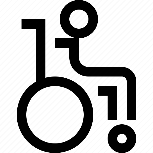 chair, disabled, hospital, patient, treatment, wheel icon