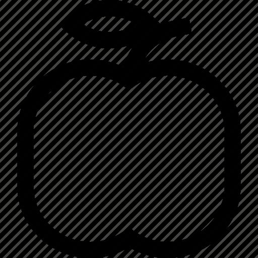 apple, food, fruit, natural, vegan icon