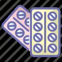 medication, medicine, pharmaceutical, pills strip, remedy icon