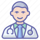 doctor, health professional, male doctor, medical doctor, medical specialist, physician icon