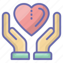 health care, health protection, heart care, medical care, treatment icon