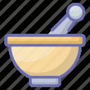 ayurvedic, herbal medicine, medicine bowl, mortar, pestle mortar, pharmacy tool icon