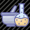 ayurvedic, herbal experiment, herbal medicine, medicine bowl, mortar, pestle mortar, pharmacy tool icon