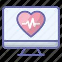 cardiogram, cardiology, electrocardiogram, heart pulse, heartbeat icon