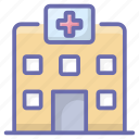 care center, health center, health clinic, hospital, medical center, medical clinic icon