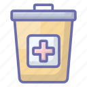 bin, disposal, garbage bin, hospital dustbin, trash can, waste disposal icon