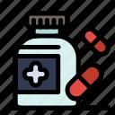 medical, medicine, pills icon