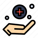 handcare, medical, sign icon