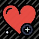 add, heartbeat, medical icon