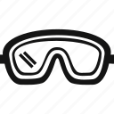 eyewear, goggles, safety, safety goggles icon