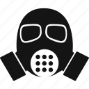 gas mask, mask, protection, safety icon