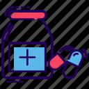 medication, medicine jar, pharmaceutical, pills jar, remedy icon