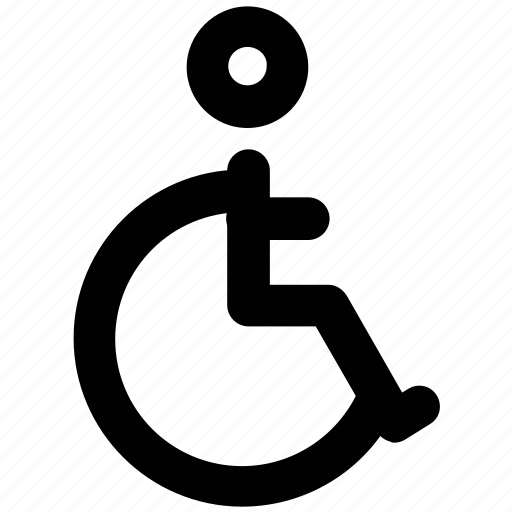 disability, disabled, disabled parking, handicap, paraplegic, sign, unfitness icon