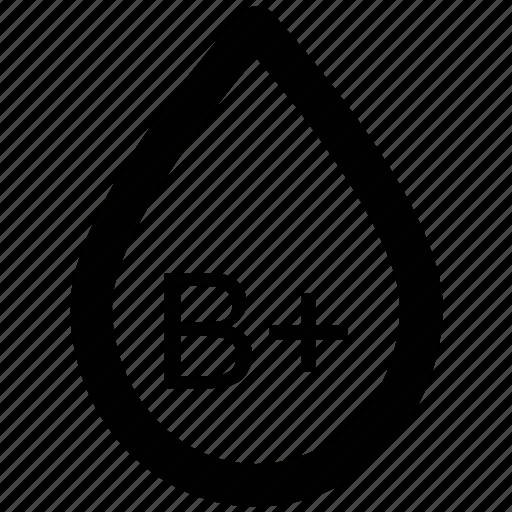 b positive, blood drop, blood group, blood type, genotype, human blood, lifeblood icon