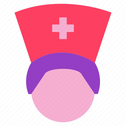 doctor, hat, hospital, nurse, woman icon