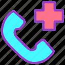 call, communication, emergency, hospital, phone icon