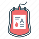 blood, blood bag, donation, donor, stock, transfusion icon
