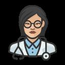 asian, coronavirus, doctor, female, n-95 mask